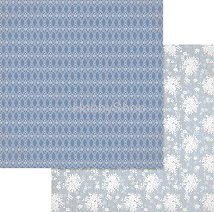 Хартии за скрапбукинг - Сини орнаменти и цветя