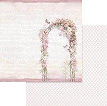 Хартии за скрапбукинг - Арка с рози - Размери 30.5 х 30.5 cm