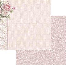 Хартии за скрапбукинг - Роза с орнаменти - Размери 30.5 х 30.5 cm