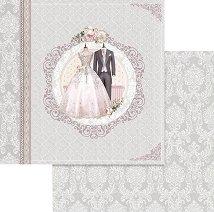 Хартии за скрапбукинг - Сватбени костюми