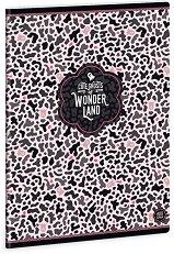 Ученическа тетрадка - Wonderland Ghost : Формат А5 с широки редове - 40 листа -