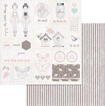 Хартии за скрапбукинг - Балерини - Размери 30.5 х 30.5 cm