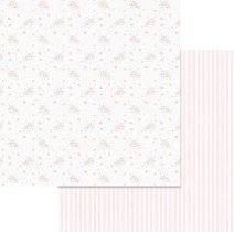 Хартии за скрапбукинг - Малки рози - Размери 30.5 х 30.5 cm
