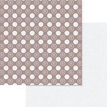 Хартии за скрапбукинг - Кръгли орнаменти с рози - Размери 30.5 х 30.5 cm
