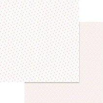 Хартии за скрапбукинг - Розички - Размери 30.5 х 30.5 cm