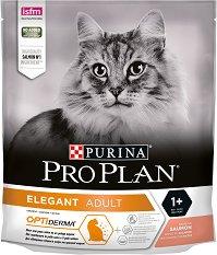 Purina Pro Plan Elegant Salmon Adult - Суха храна със сьомга против образуване на космени топки за котки с чувствителна кожа на възраст над 1 година - чували от 400 g ÷ 10 kg -
