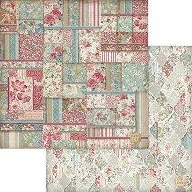 Хартии за скрапбукинг - Орнаменти с цветя - Размери 30.5 х 30.5 cm