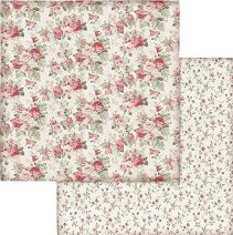 Хартии за скрапбукинг - Червени рози - Размери 30.5 х 30.5 cm