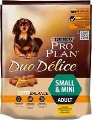 Purina Pro Plan Duo Delice Optibalance Chicken Small & Mini Adult - Суха храна с пилешко месо за кучета от малки и дребни породи на възраст над 1 година - чували от 700 g и 2.5 kg -