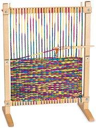 Детско дървено станче за тъкане - творчески комплект