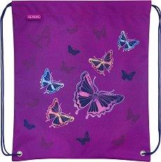 Спортна торба - Glitter Butterfly -