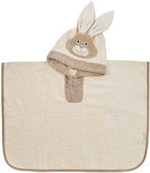 Детски халат тип пончо - Зайче - продукт