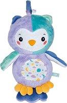 """Сова - Плюшена бебешка играчка със звуков и светлинен ефект от серията """"Baby"""" - играчка"""