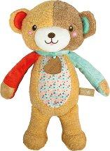 """Мече - Love me Bear - Плюшена бебешка играчка със звуков и светлинен ефект от серията """"Baby"""" - играчка"""