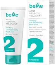 beMe Acne Probiotic Treatment Soothing and Rebalancing Moisturizer - Успокояващ и овлажняващ крем против акне - тоник