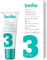 beMe Acne Probiotic Treatment Correct & Cover - Коректор за лице против акне - продукт