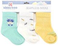 Бебешки чорапи - Cat Lovely Day - Комплект от 3 чифта -