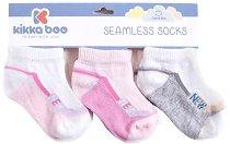 Бебешки чорапи - New Pink - Комплект от 3 чифта -