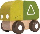 Камион за боклук - Детска дървена играчка -