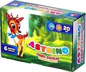 Бои за рисуване - Astrino - Комплект от 6 или 12 цвята по 20 ml