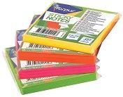 Самозалепващи неонови листчета - Кубче от 80 листчета с размери 7.5 x 7.5 cm