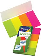 Самозалепващи индекси - Комплект от 4 цвята по 40 листчета с размери 2 x 5 cm