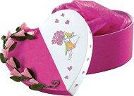 Картонена кутия - Сърце - Предмет за декориране с размери 15 / 16 / 7.5 cm
