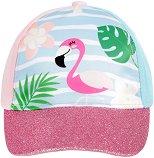 Детска шапка с козирка - Фламинго -