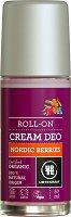 "Urtekram Nordic Berries Roll-On Cream Deo - Био ролон дезодорант от серията ""Nordic Berries"" - молив"