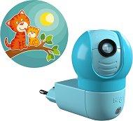 Нощна LED лампа с проектор - Коте - Детски аксесоар -