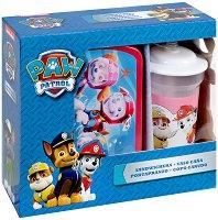 Комплект кутия за храна и чаша със сламка - Пес Патрул - детски аксесоар
