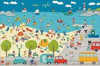 Детски лагер на море - пъзел