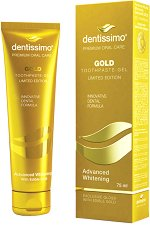 Dentissimo Advanced Whitening Gold Toothpaste-Gel - Избелваща гел-паста за зъби със злато -