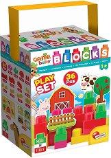 """Животните на село - Детски конструктор от 36 части от серията """"Carotina Baby"""" -"""