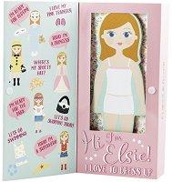 Облечи Елси - Детски дървен комплект за игра с магнити -