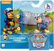 """Чейс със скейтборд - Комплект за игра от серията """"Пес патрул"""" -"""