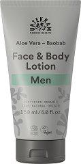 Urtekram Men Aloe Vera Baobab Face & Body Lotion - душ гел