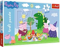 Пепа Пиг - Пиршество - Детски пъзел с големи елементи - пъзел