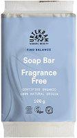 "Urtekram No Perfume Nourishing Soap Bar - Подхранващ био сапун без аромат от серията ""No Perfume"" - шампоан"