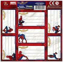 Етикети за тетрадка - Спайдърмен - играчка
