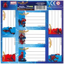 Етикети за тетрадка - Спайдърмен - Комплект от 7 броя -
