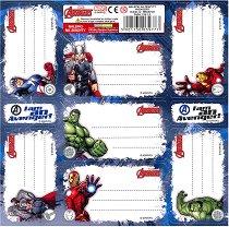 Етикети за тетрадка - Отмъстителите - Комплект от 7 броя - раница