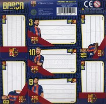 Етикети за тетрадка - Барселона - Комплект от 7 броя - продукт