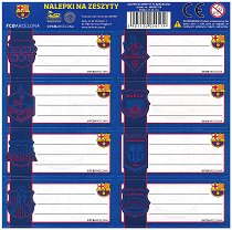 Етикети за тетрадка - Барселона - Комплект от 8 броя - продукт