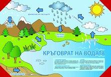 Двустранно табло по човекът и природата за 4. клас - № 1: Кръговрат на водата. Слънчевата система -