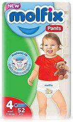 Molfix Pants 4 - Maxi - Гащички за еднократна употреба за бебета с тегло от 7 до 14 kg - продукт