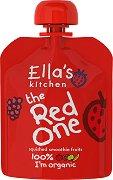 Ella's Kitchen - Био смути от банани, ягоди, ябълки и малини - Опаковка от 90 g за бебета над 6 месеца -
