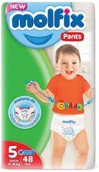 Molfix Pants 5 - Junior - Гащички за еднократна употреба за бебета с тегло от 11 до 18 kg -