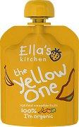 Ella's Kitchen - Био смути от банани, ябълки, манго и кайсии - Опаковка от 90 g за бебета над 6 месеца -