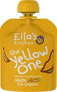 Ella's Kitchen - Био смути от банани, ябълки, манго и кайсии - Опаковка от 90 g за бебета над 6 месеца - пюре